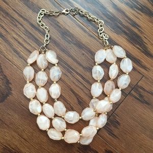 [Forever 21] Pink Stone Stacked Statement Necklace